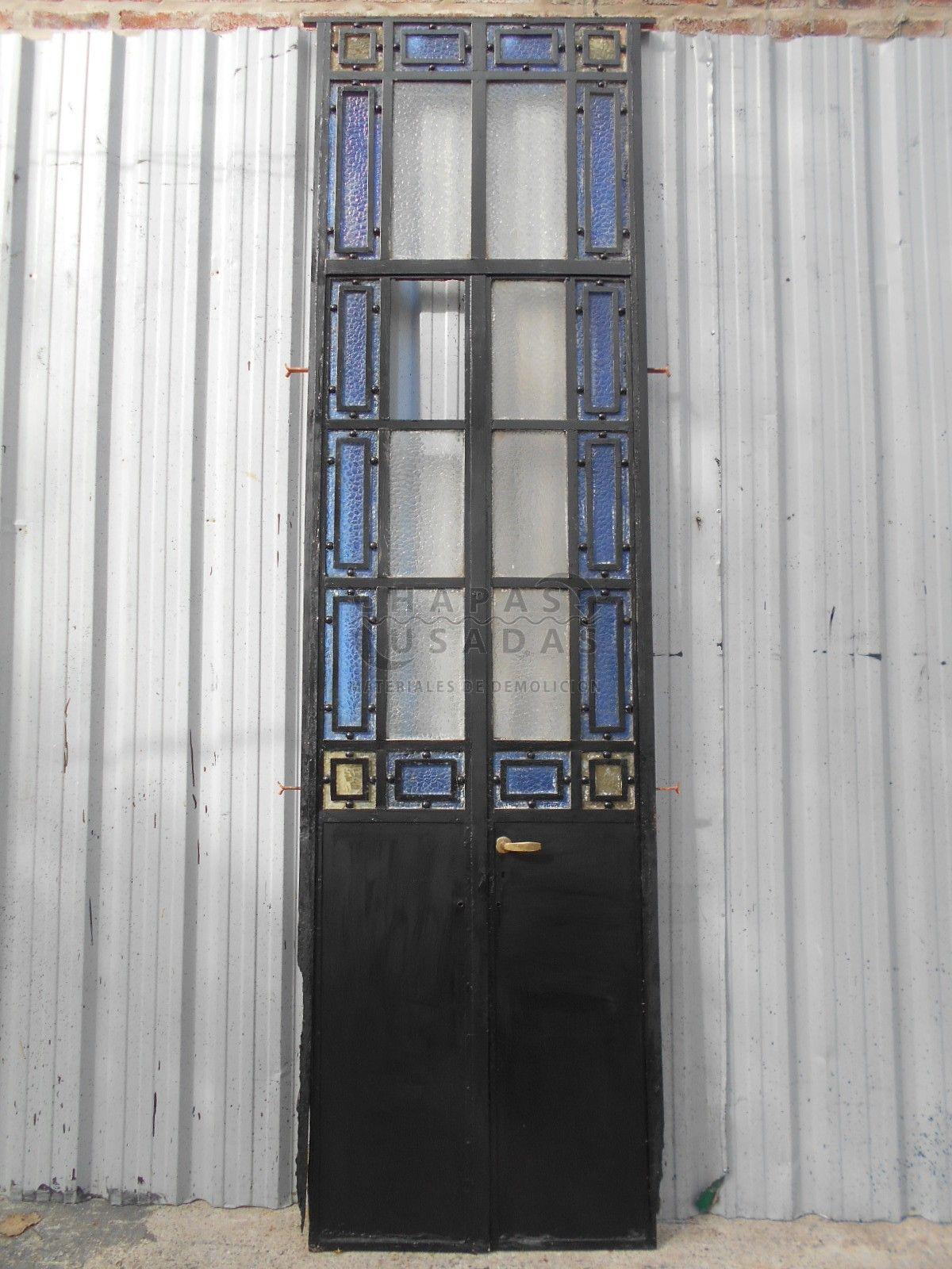 Antigua puerta de hierro tipo mampara puertas antiguas for Puertas de madera y hierro antiguas