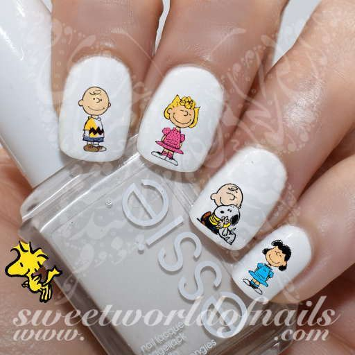 Peanuts Nail Art Charlie Brown Snoopy Nail Water Decals Transfers