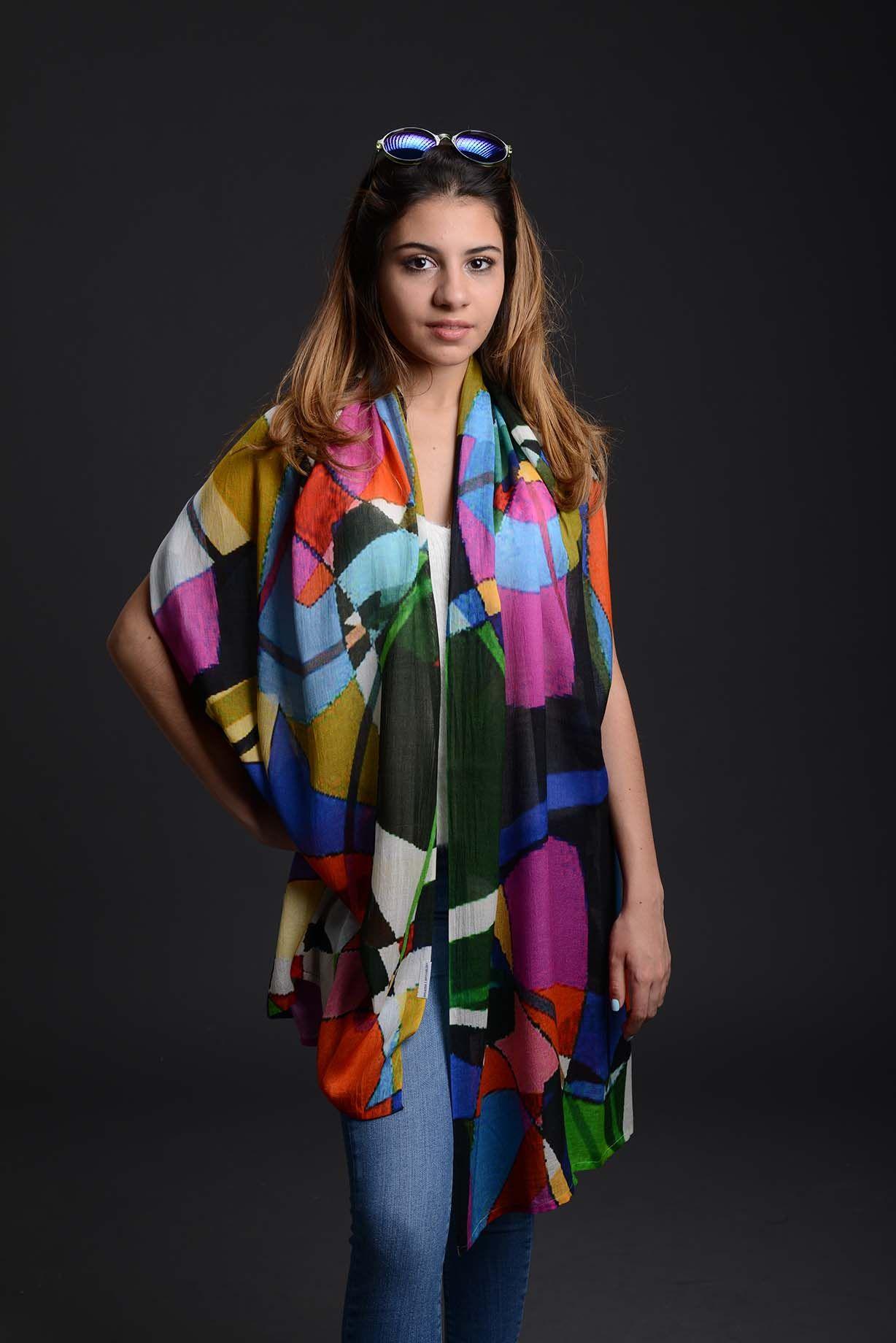 100 Modal Scarf Isabel Garza Art Isabel Design Trends Style