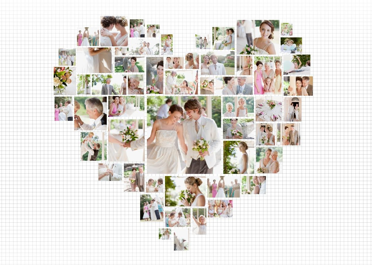 Photo Poster 17 Best Photos Of Heart Shaped Photo Collage Template