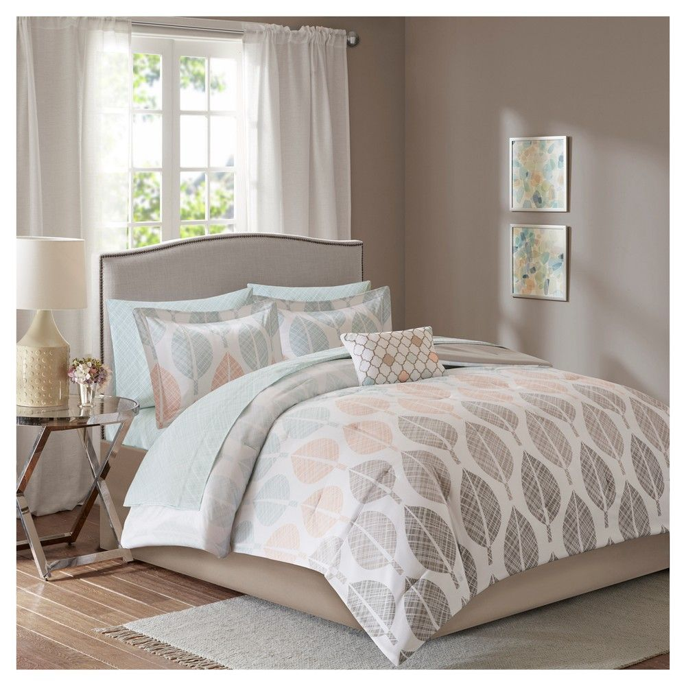 Coral Green Prospect Park Complete Comforter Set California