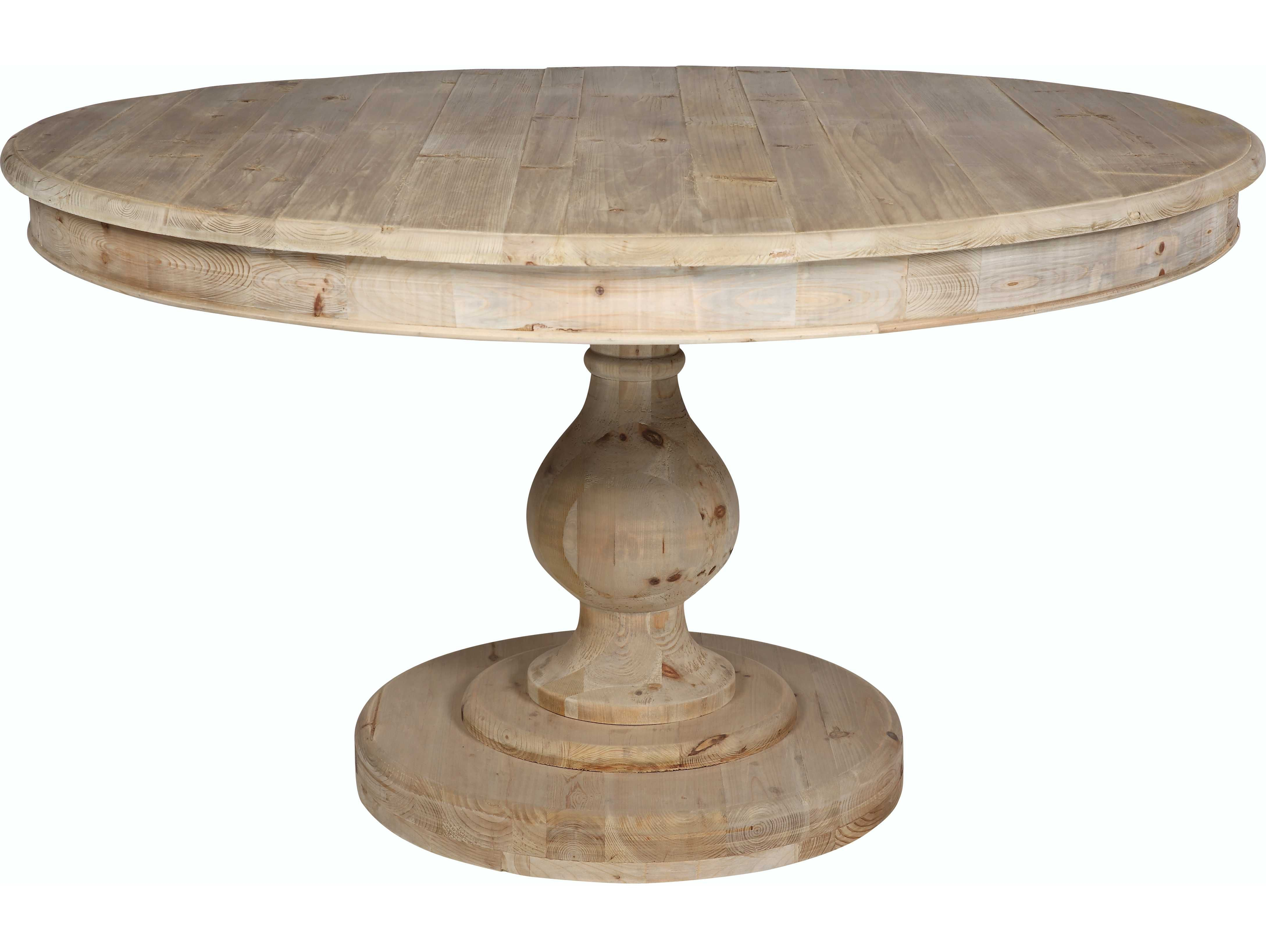 Moe S Home Collection Leonardo 54 Round Natural Dining Table