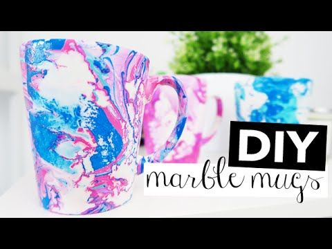 Diy Water Marble Galaxy Mug Dishwasher Safe Ali Coultas