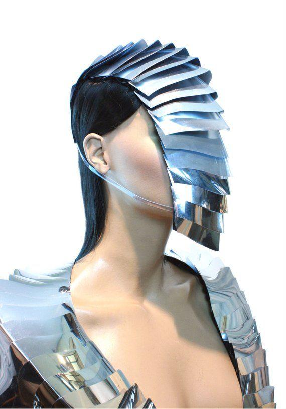 futuristische Armadilla Nautilus Brille Maske, Sci-Fi, Cyber-Brille, Rüstung Maske, Schutzbrille, Kopfschmuck
