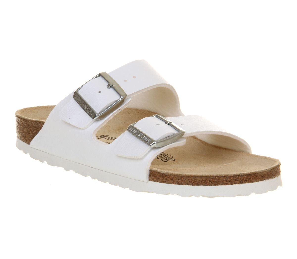 Birkenstock Arizona Two Strap Sandals White Birko Flor - Sandals