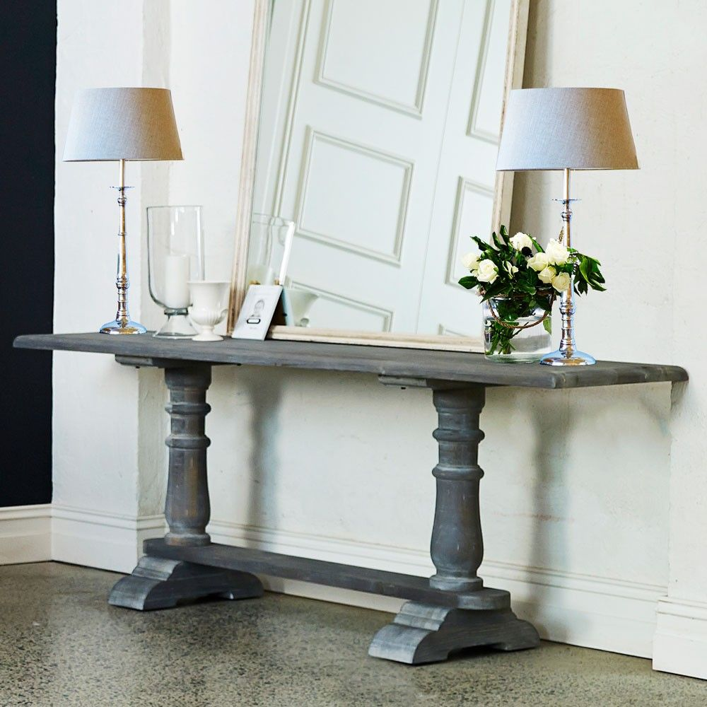 Louis XV Avignon Console Wall or Hall Table in Cloudy Grey