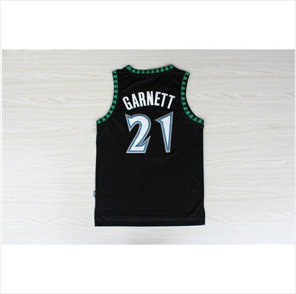 911a1ff26 Men s Minnesota Timberwolves Kevin Garnett Black Authentic NBA Basketball  Jersey 820103337403 on eBid United States
