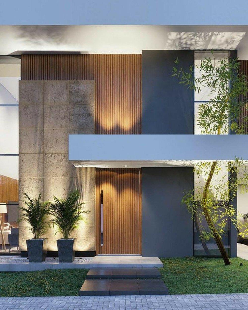 25 Best Outside Wall Art Design Ideas For Exterior Home Decorhead Com In 2020 House Exterior Facade House Modern House Exterior