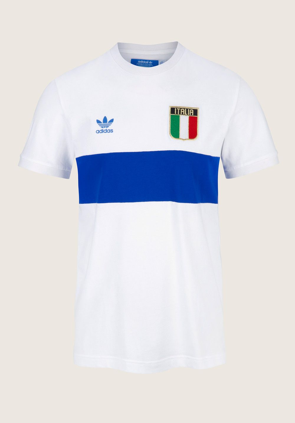 ADIDAS Country Tee Italy white blue, Printed T Shirts