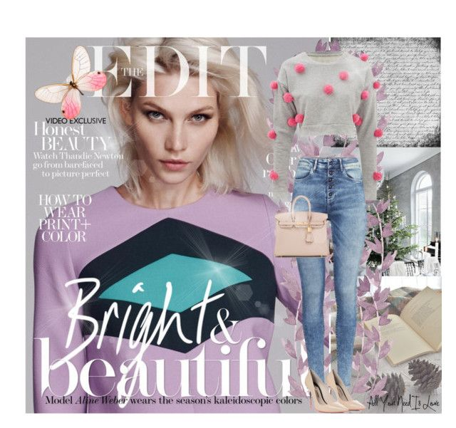 """""""Aline Weber for The Edit Magazine"""" by elem-mayara ❤ liked on Polyvore featuring H&M, Sophia Webster, Hermès, women's clothing, women, female, woman, misses, juniors and BrazilianModels"""