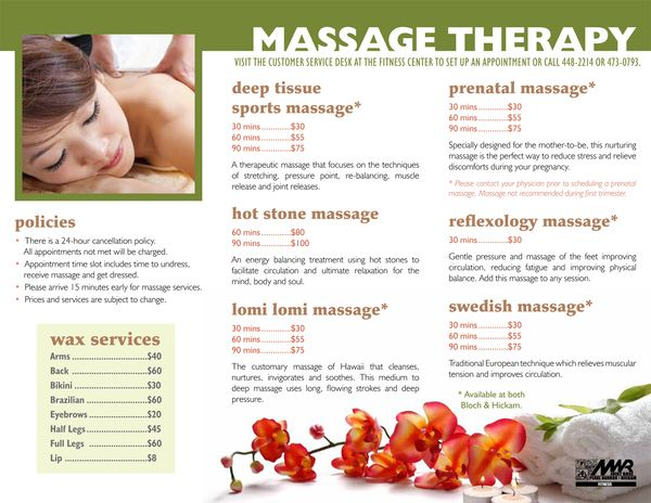 Massage therapy brochures massage brochure on behance for Massage brochure template