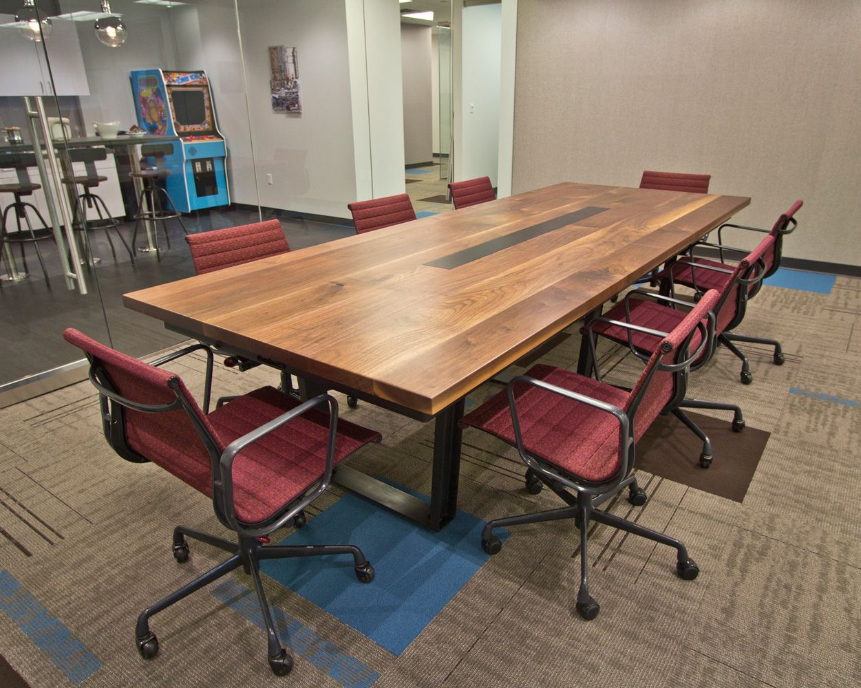 Black Walnut Conference Table at Mission Staff by RSTco. Turkish Steel Conference Tables  Conference table with 2 5  thick