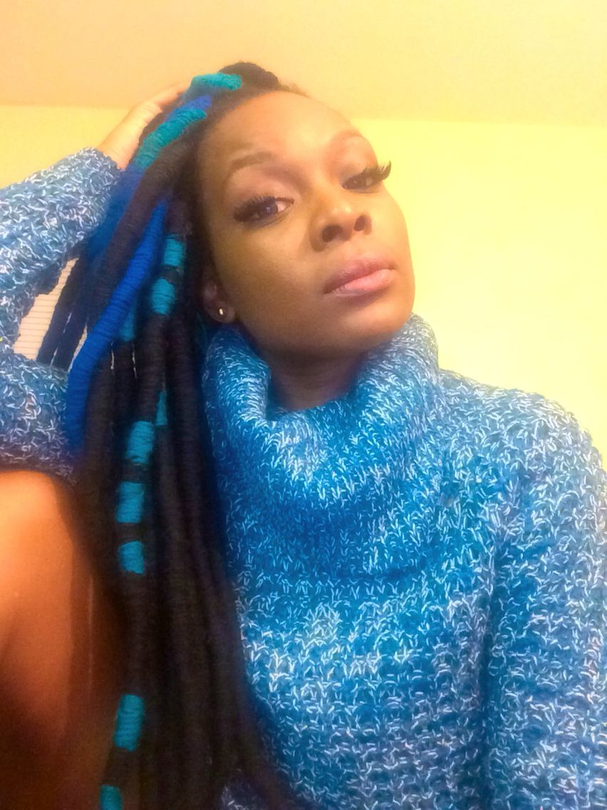Faux yarn locs  Hair Fetish  Pinterest  Locs and Protective styles
