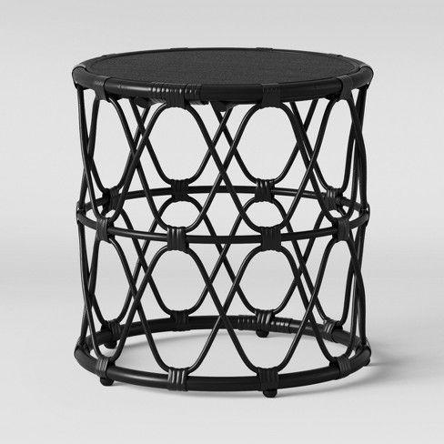Jewel Round Side Table Opalhouse Target Black Side