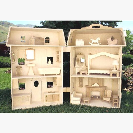 Doll House Plan Full Size Plans For Furniture For All The Rooms Including