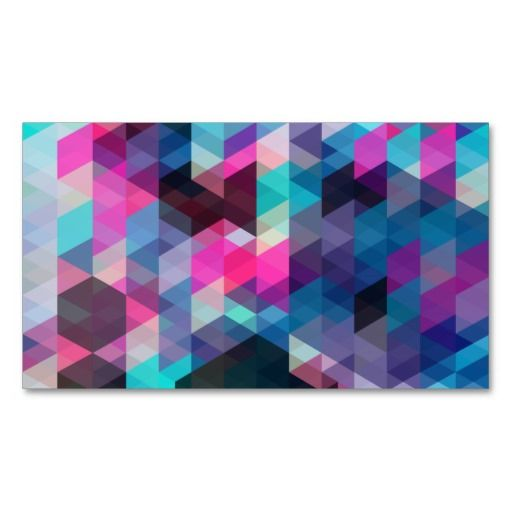 Geometric Triangles Abstract Vector Pattern Double-Sided Standard Business Cards (Pack Of 100)