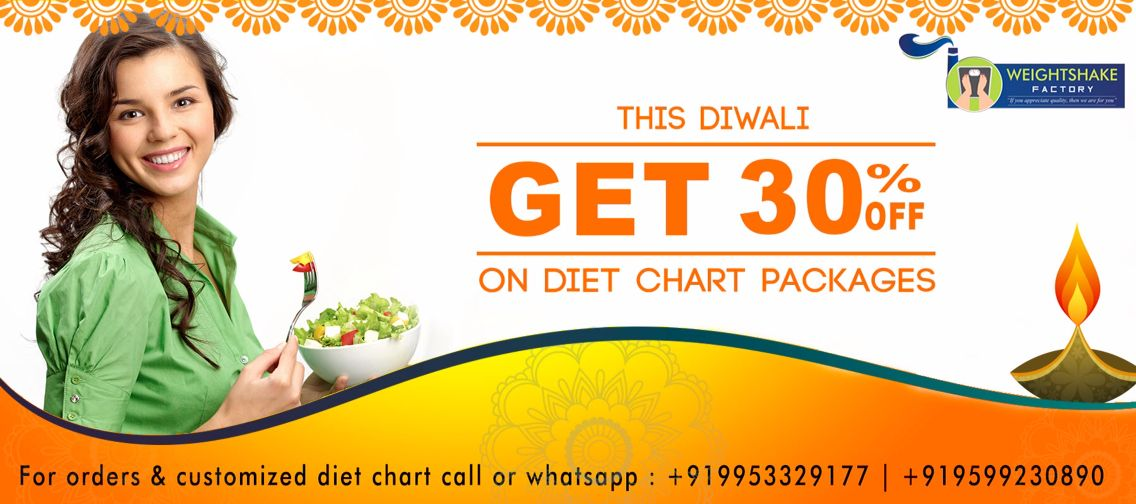 Weightshake Factory offers you 30 on Diet Chart Packages this - diet chart