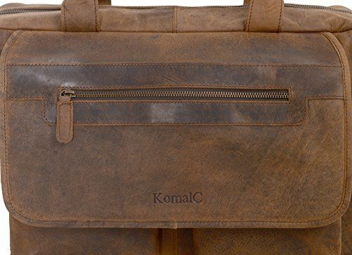 7a47db1b376a Amazon.com  KomalC 16 Inch Retro Buffalo Hunter Vintage Leather Laptop  Messenger Bag Office Briefcase College Bag For Men and Women   Fits upto  15.6 Inch ...