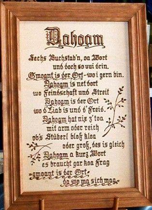 Http Kreativ Kirchner De Brandmalerei Dahoam 6 Buchst Jpg Bayrische Spruche Bayerische Spruche Spruche