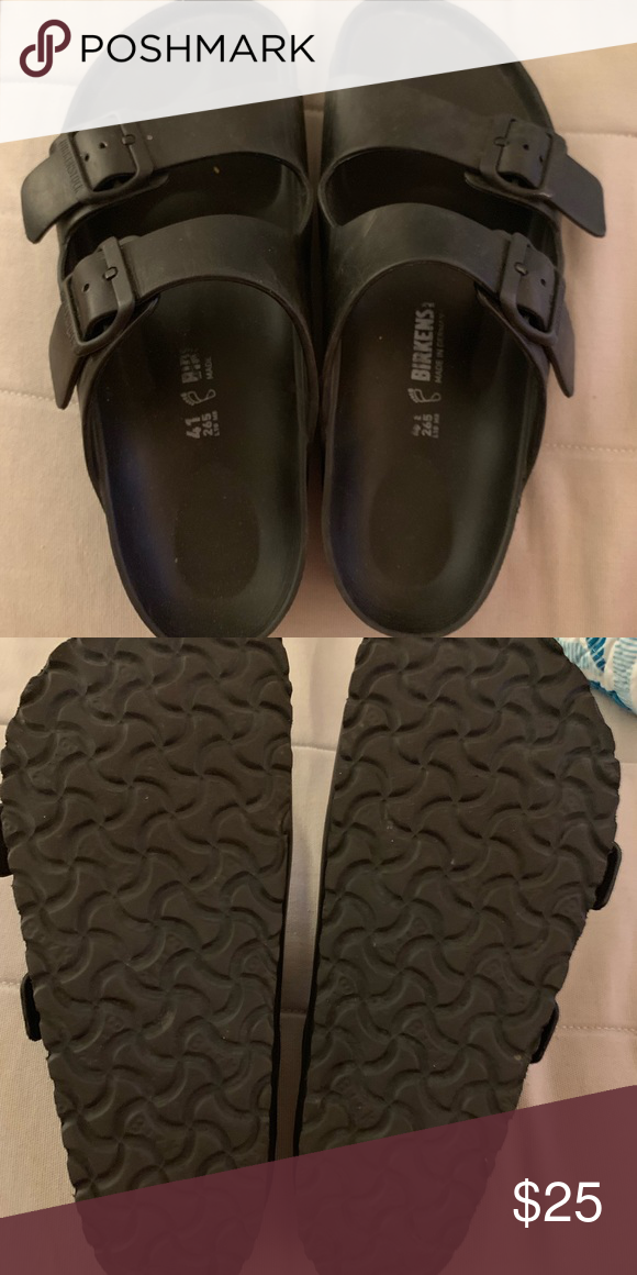 cheap for discount 1bb19 efb03 Black Rubber Waterproof Birkenstock's Black rubber ...