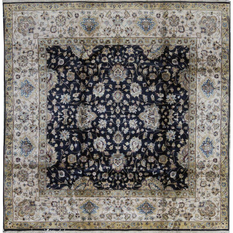 Square Oriental Hand Knotted Wool Black Beige Area Rug In 2020 Area Rugs Beige Area Rugs Rugs