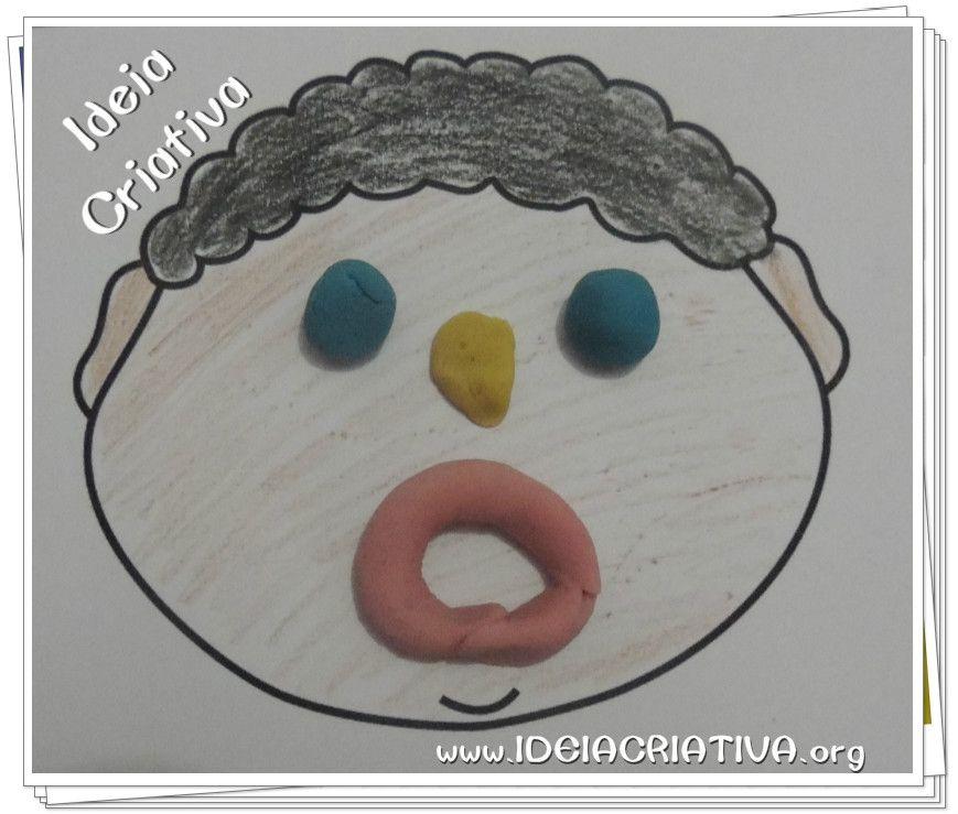 Suficiente Atividade Trabalhando Expressões com Massinha de Modelar | Ideia  LB14