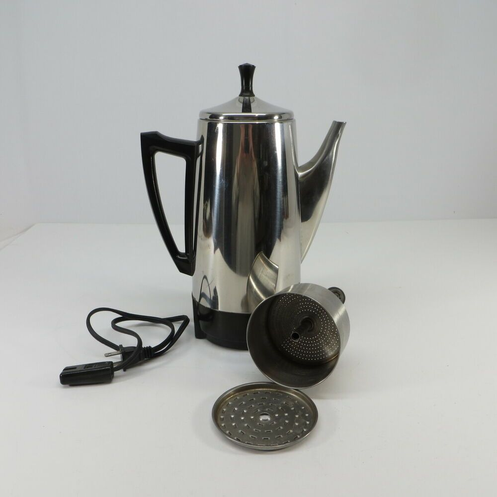 Presto 12 Cup Percolator Coffee Maker Stainless Steel Model 02811 05 Presto In 2020 Electric Coffee Maker Percolator Coffee Maker