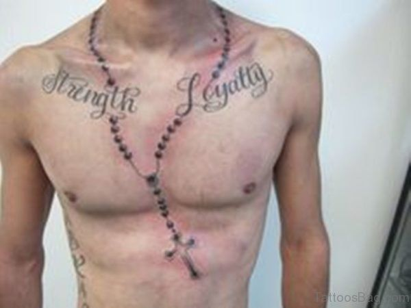 Pin On Rosary Chest Tattoos For Men