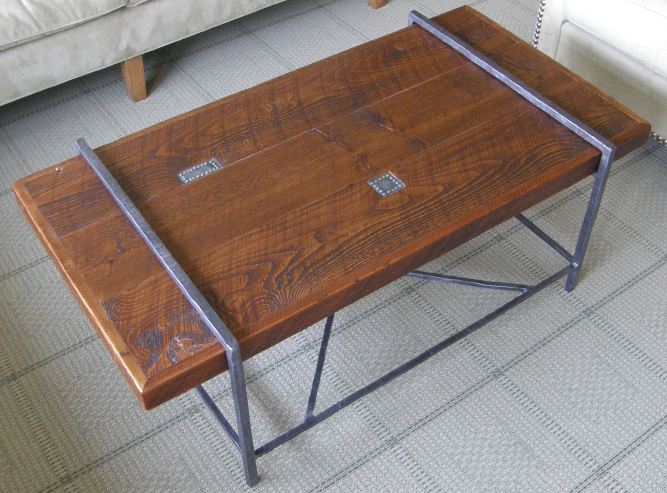 Reclaimed Wood Coffee Table Top Similar build for counter top