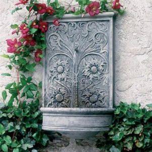 outdoor-wall-decor-sussex-wall-fountain | Fountains and Birdbaths ...