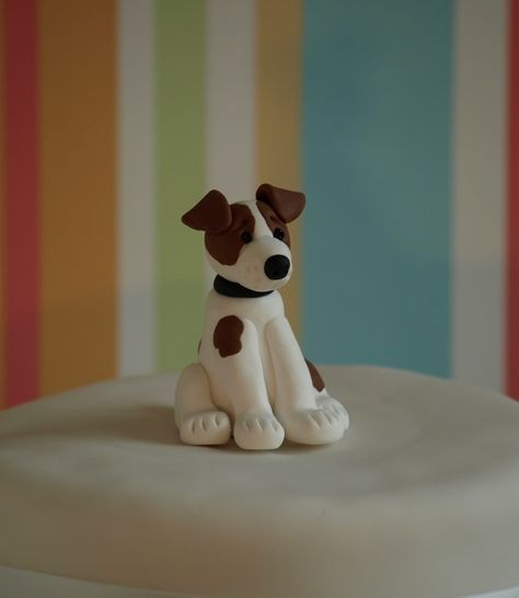Jack Russell Dog with Chain Ornament Figurine Brand New Boxed