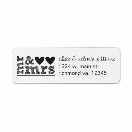 mr and mrs return address labels Wedding Thank You Cards