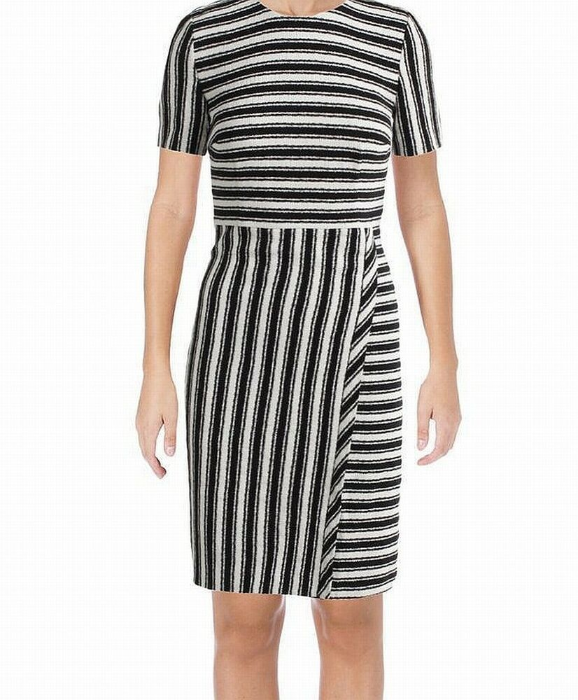 dc94fe48b1456c Hugo Boss NEW Black Women's Size 6 Striped Textured Sheath Dress $545 #191  #fashion #clothing #shoes #accessories #womensclothing #dresses (ebay link)