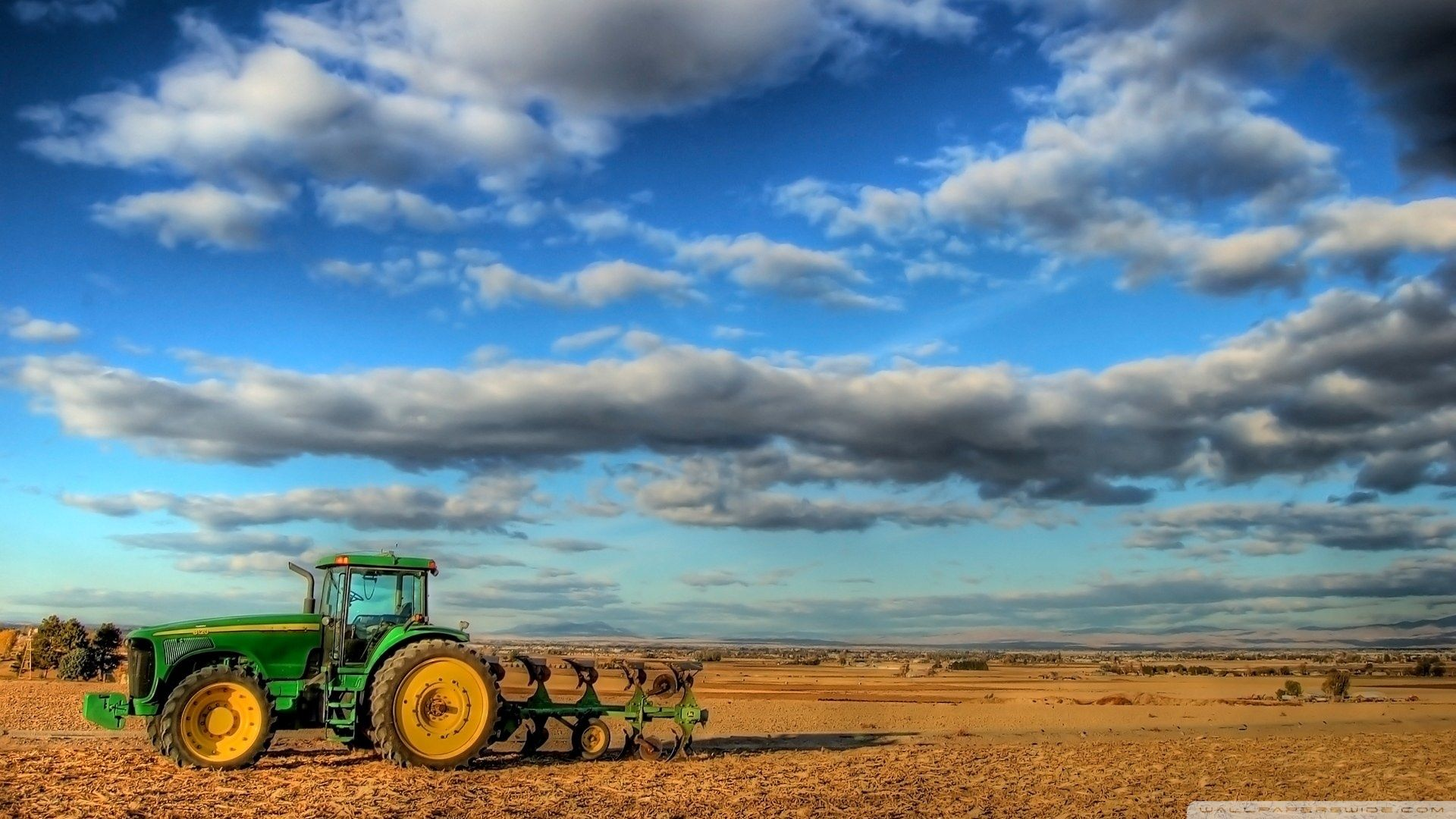 Hd John Deere Tractor In Big Sky Country Wallpaper Download Free