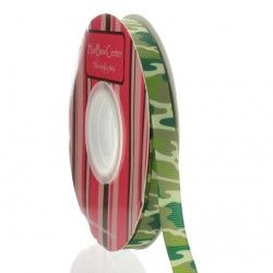 "3/8"" Green Camo Grosgrain Ribbon Main"