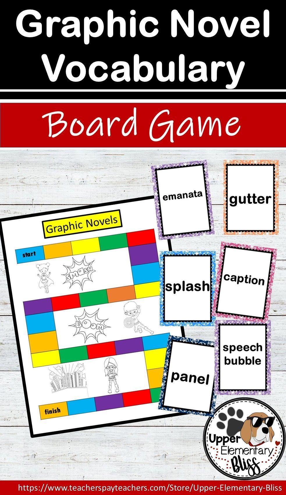 Graphic Novel Vocabulary Board Game Vocabulary Vocabulary Activities Teaching Elementary [ 1701 x 983 Pixel ]