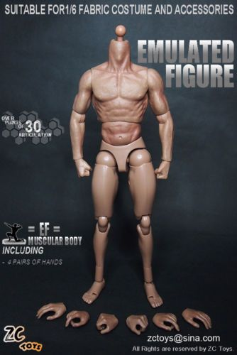 """1//6 Scale Men/'s Hands Nude Color Model For 12/"""" Male Hot Toys Figure Body"""