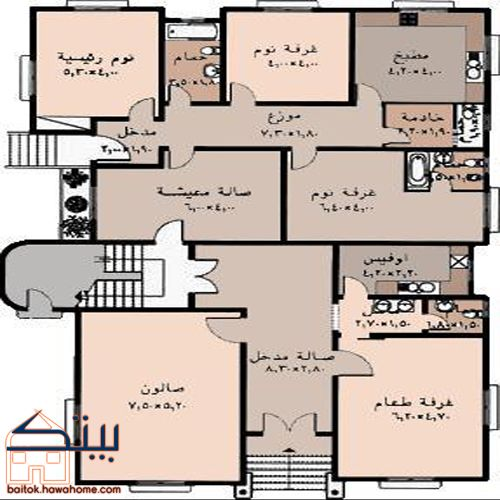 مخططات منازل سعودية Family House Plans Model House Plan Luxury House Plans