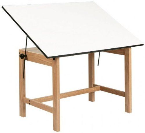 Titan Melamine Drafting Table Size 37 5 X 60 By Alvin And Co 382 27 Wob60 Size 37 5 X 60 F Wood Drafting Table Drafting Table Furniture