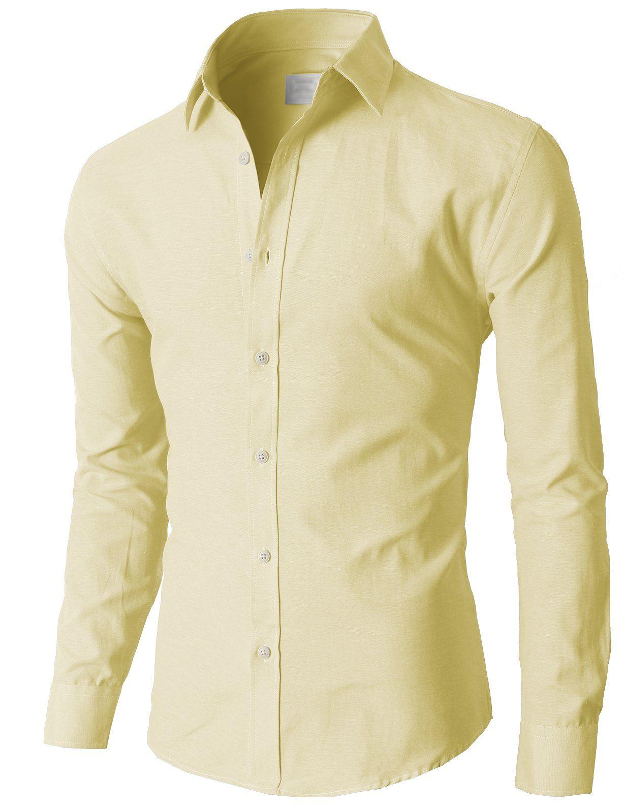 de7890671e2 H2H Mens Oxford Cotton Slim Fit Dress Button-down Shirts Long Sleeve at  Amazon Men s Clothing store