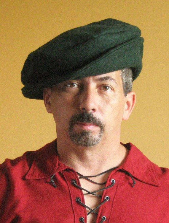 Medieval Celtic Renaissance Tudor Borgias Larp SCA Beret Hat with Brim Up 37d7681eb272