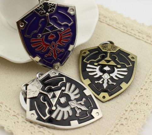The Legend of Zelda Ocarina of Time Boss Key Keychain Keyrings Alloy Pendant