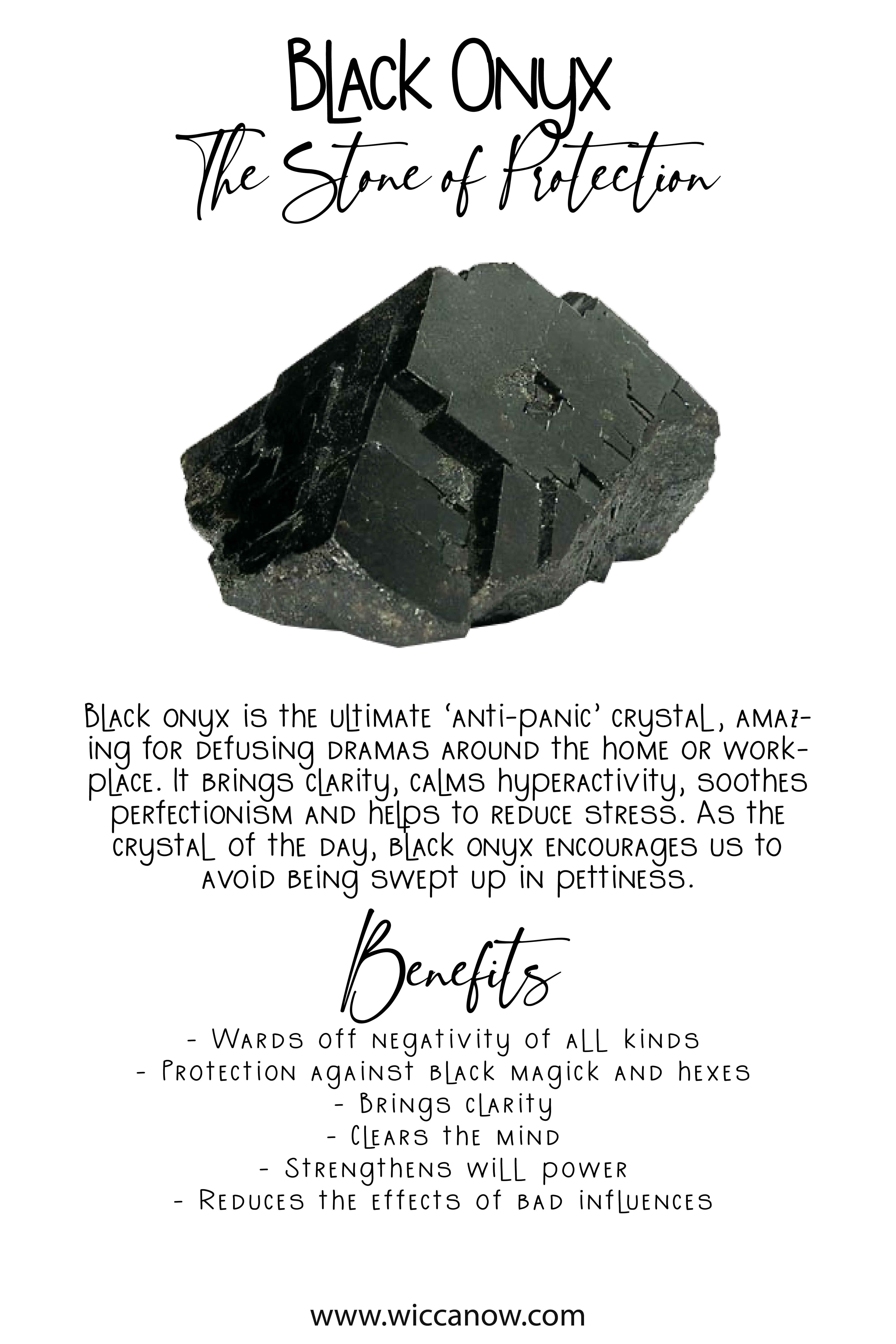 Black Onyx The Stone Of Protection In 2020