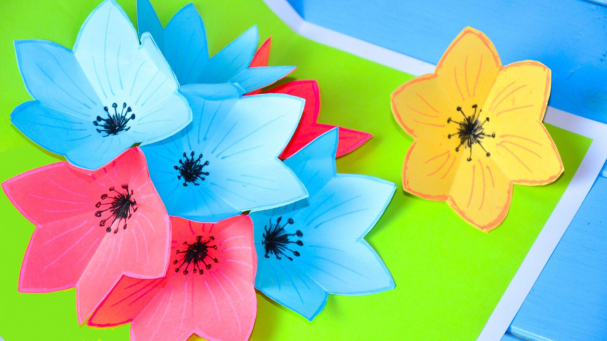 Открытки с цветами 3д
