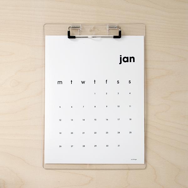 Calendar Typography Generator : Planning papelería etiquetas y oficinas