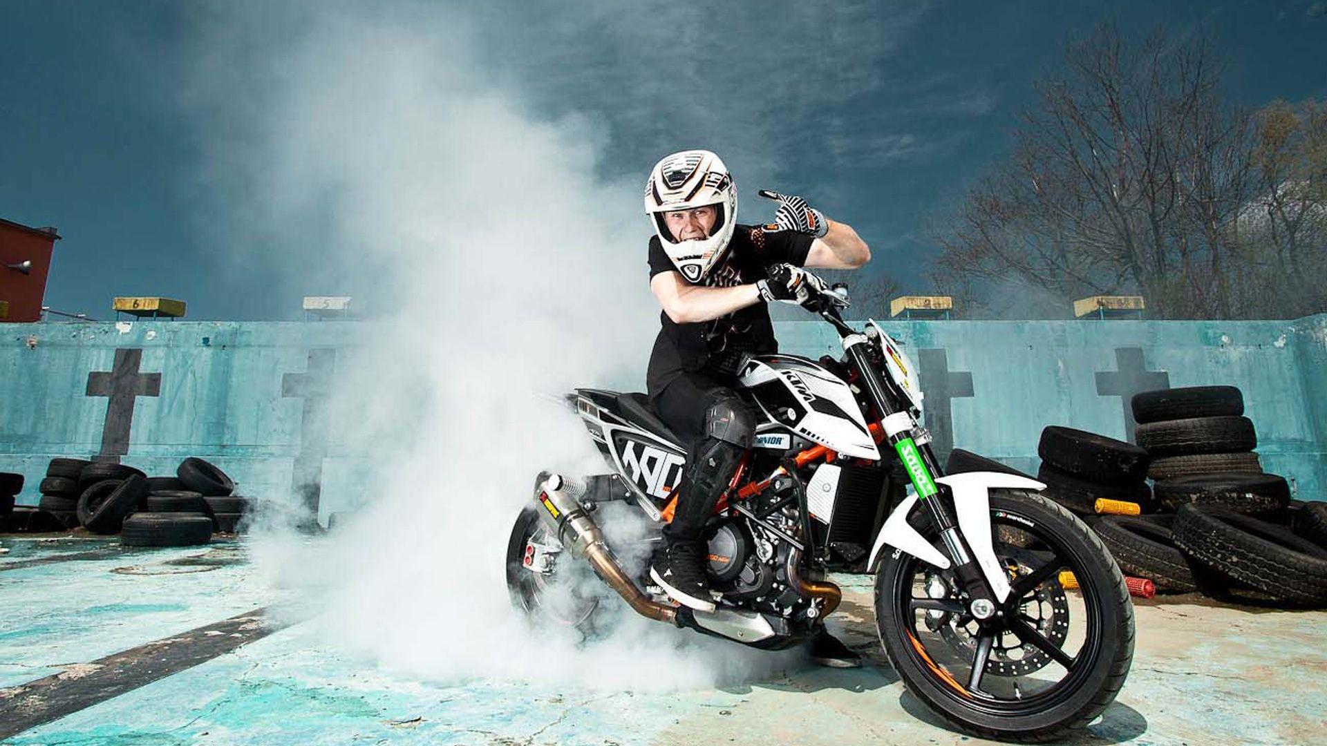 Обои duke, 690, stunt. Мотоциклы foto 14