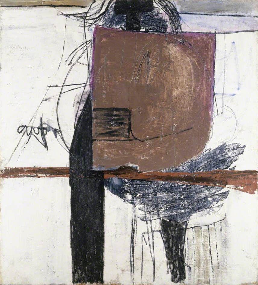 October 56 brown black and white roger hilton art