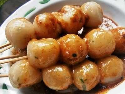 Resep Cilok Bandung Asli Daging Sapi Bumbu Kacang Bumbu Balado Resep Masakan Masakan Indonesia Cemilan
