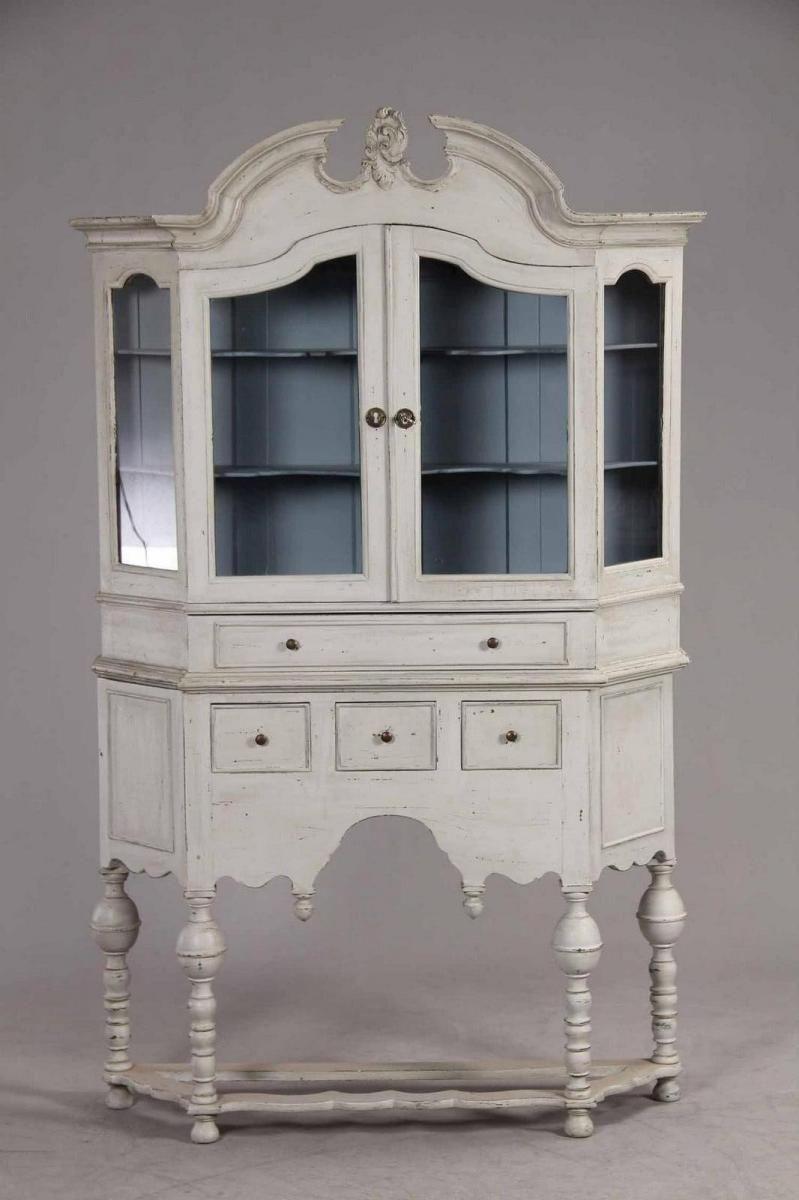 Antique swedish display furniture shabby chic
