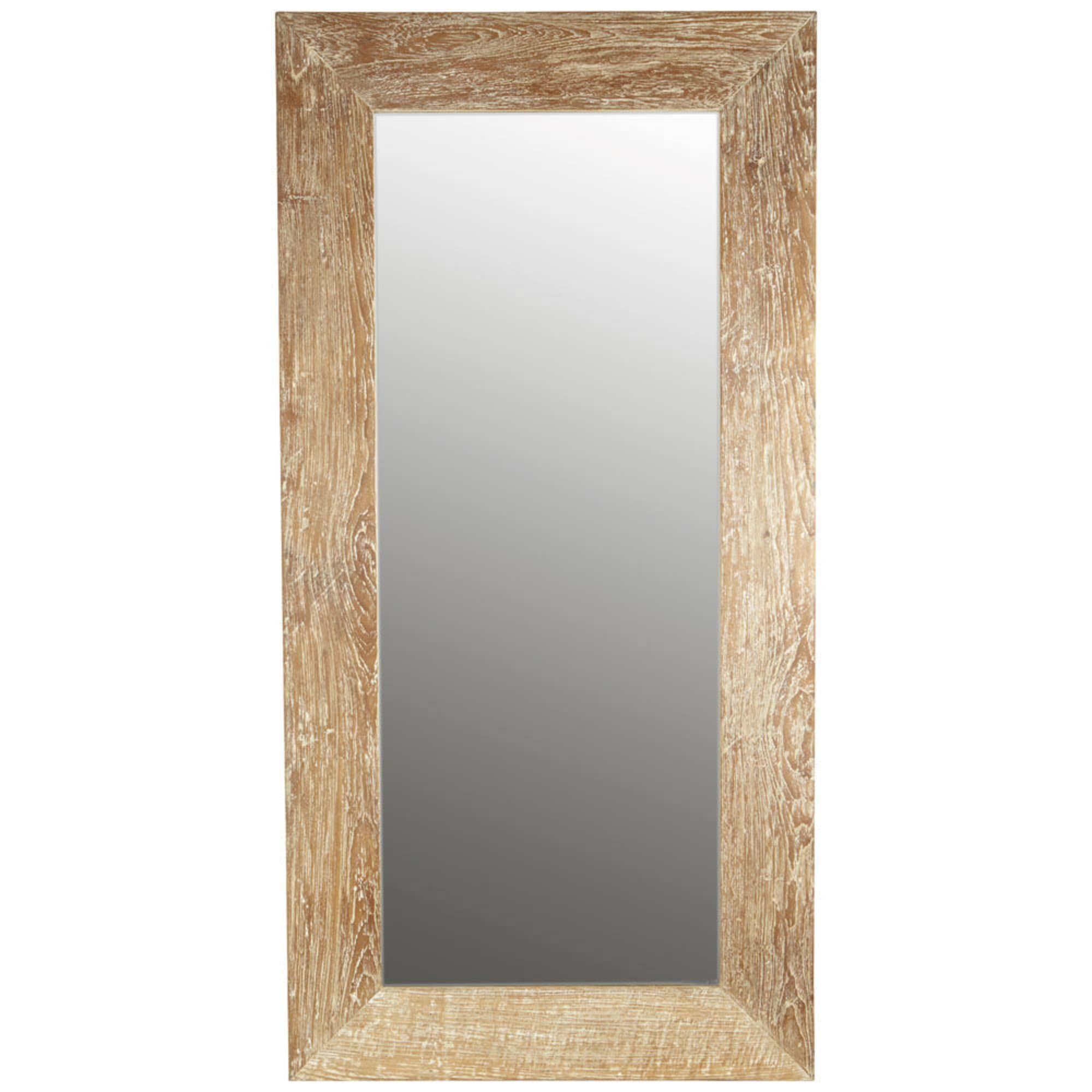 Dressing 200 Cm Whitewashed Wood Mirror H 200cm In 2019 Cazoo Wood Mirror
